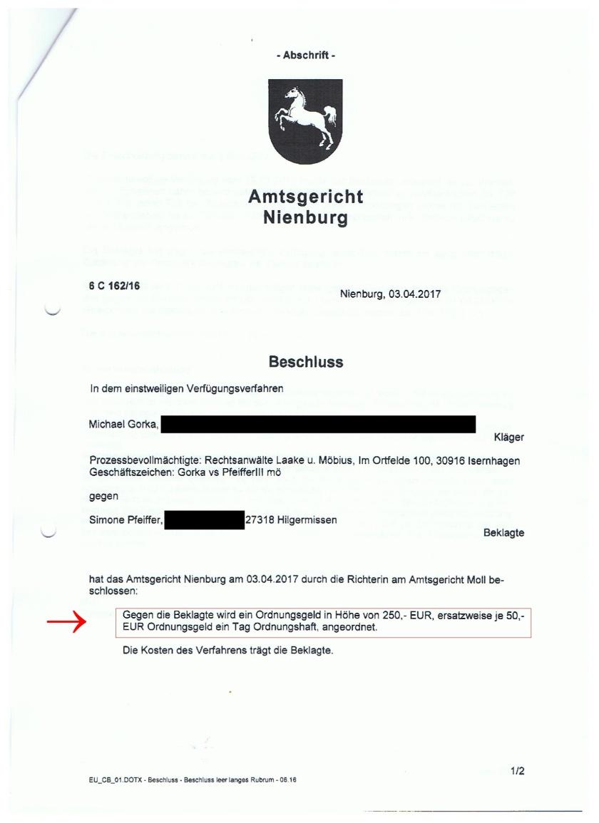 Beschluss Aktenzeichen 6c16216 Seite 1